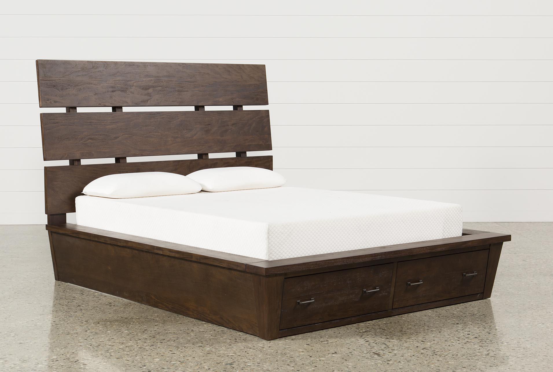 Livingston California King Storage Bed & Livingston Eastern King Storage Bed | Living Spaces