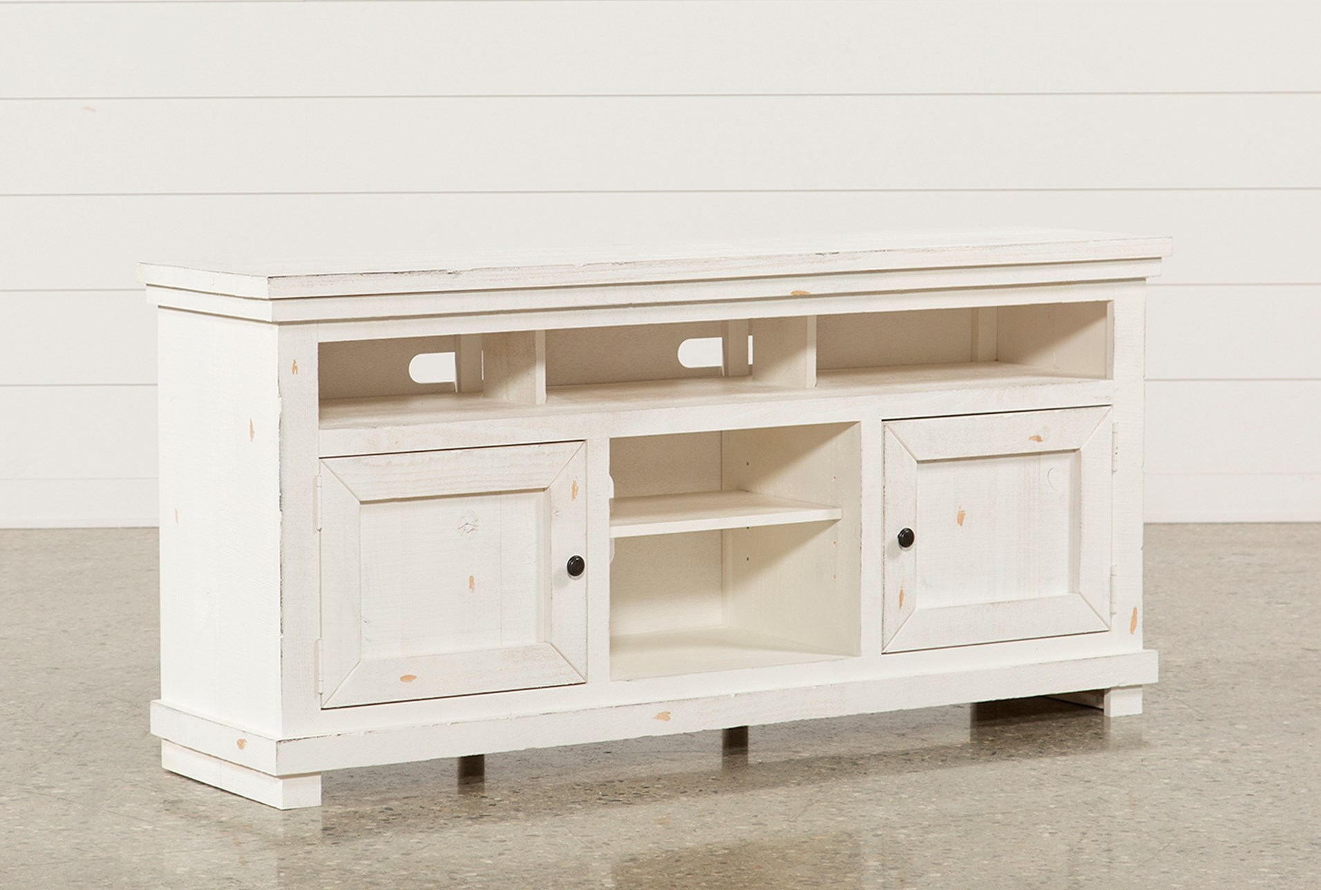 sinclair white 64 inch tv stand qty 1 has been successfully added to your cart - White Distressed Tv Stands