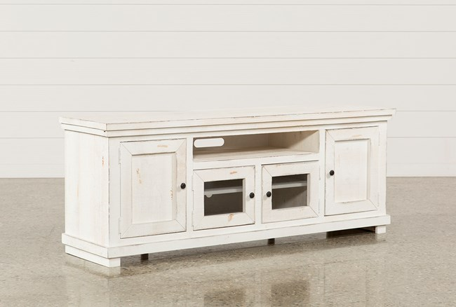Sinclair White 74 Inch TV Stand - 360