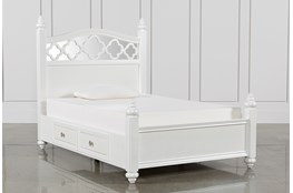 Jolie Full Poster With 2 Sides Storage Bed