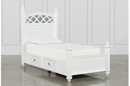 Jolie Twin Poster With 1 Side Storage Bed
