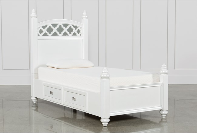 Jolie Twin Poster With 1 Side Storage Bed - 360