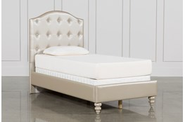Jolie Twin Upholstered Panel Bed