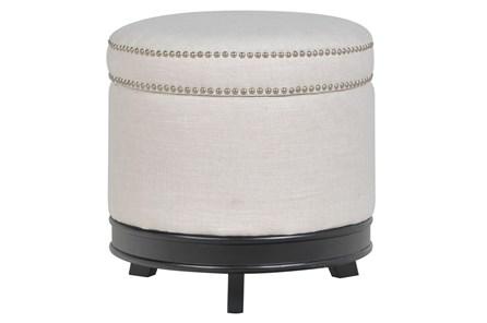 Cerise Round Storage Ottoman