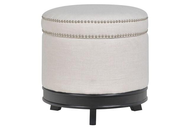Cerise Round Storage Ottoman - 360