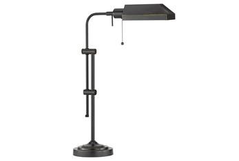 26 Inch Antique Bronze Rustic Pharmacy Style Adjustable Desk Task Lamp