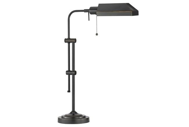 26 Inch Antique Bronze Rustic Pharmacy Style Adjustable Desk Task Lamp - 360
