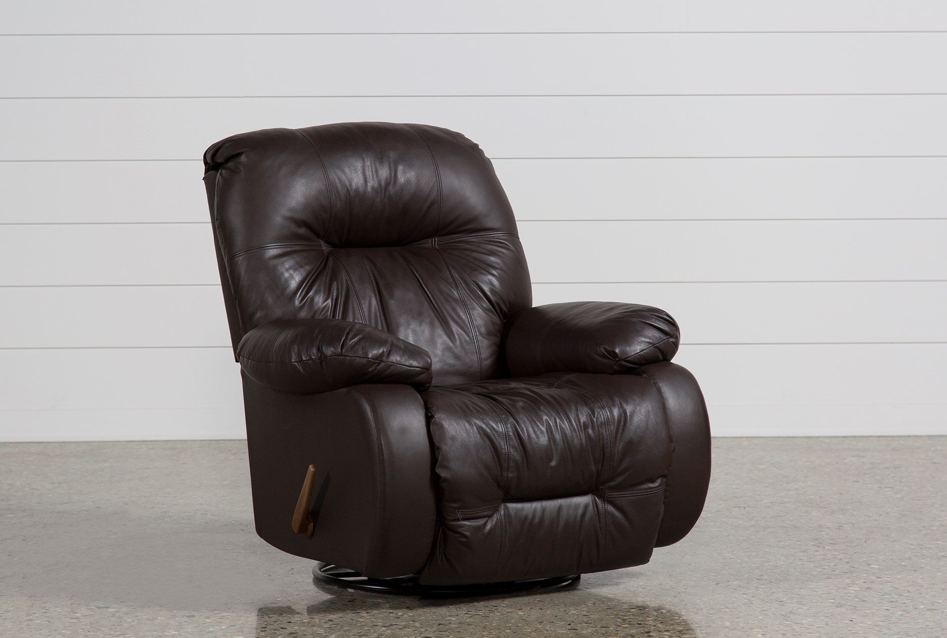 desmond ii leather swivel glider recliner living spaces