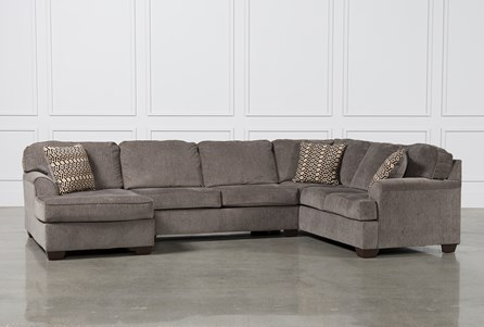 Loric Smoke 3 Piece Sectional W/Laf Chaise