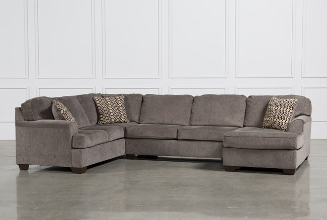 Loric Smoke 3 Piece Sectional W Raf Chaise