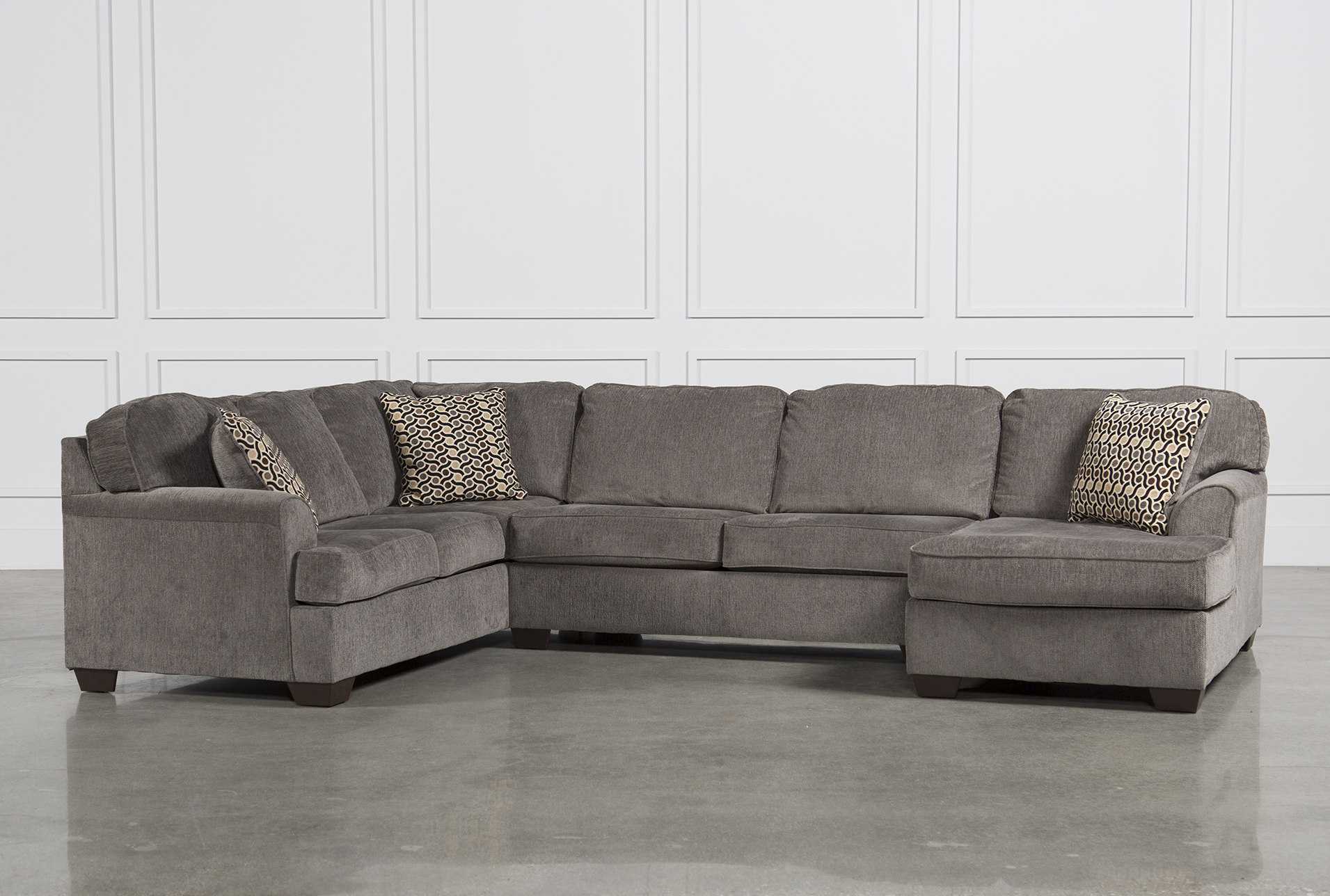 Loric Smoke 3 Piece Sectional W/Raf Chaise   360