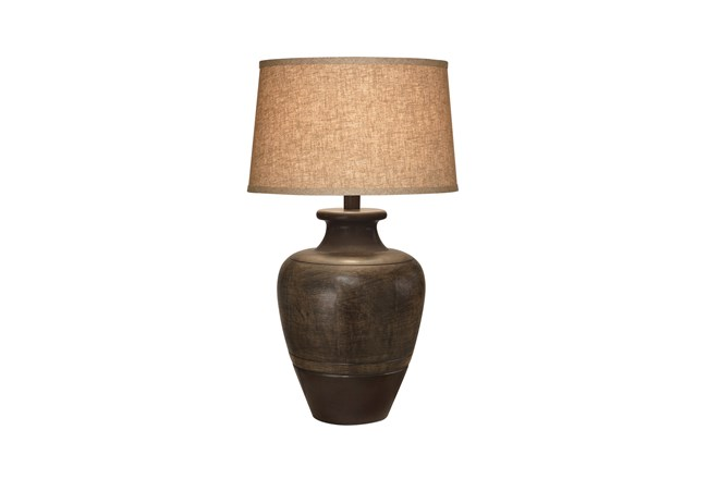 Table Lamp-Bronze Jar - 360