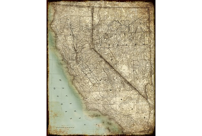 Picture-California Map - 360