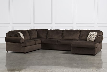 Jessa Place Chocolate 3 Piece Sectional W/Raf Chaise