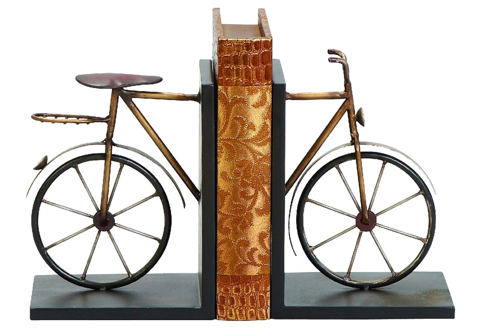 Metal Bike Bookend