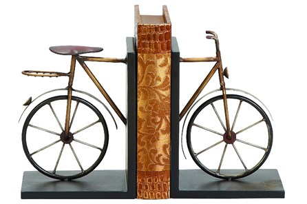 Metal Bike Bookend