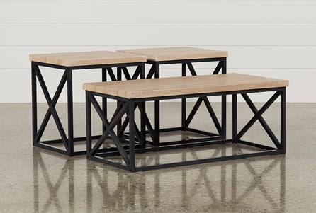 living spaces coffee table Helene 3 In 1 Pack Tables | Living Spaces living spaces coffee table