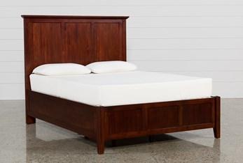 Copenhagen Brown California King Panel Bed