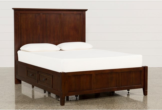 Copenhagen Brown Queen Storage Bed | Living Spaces