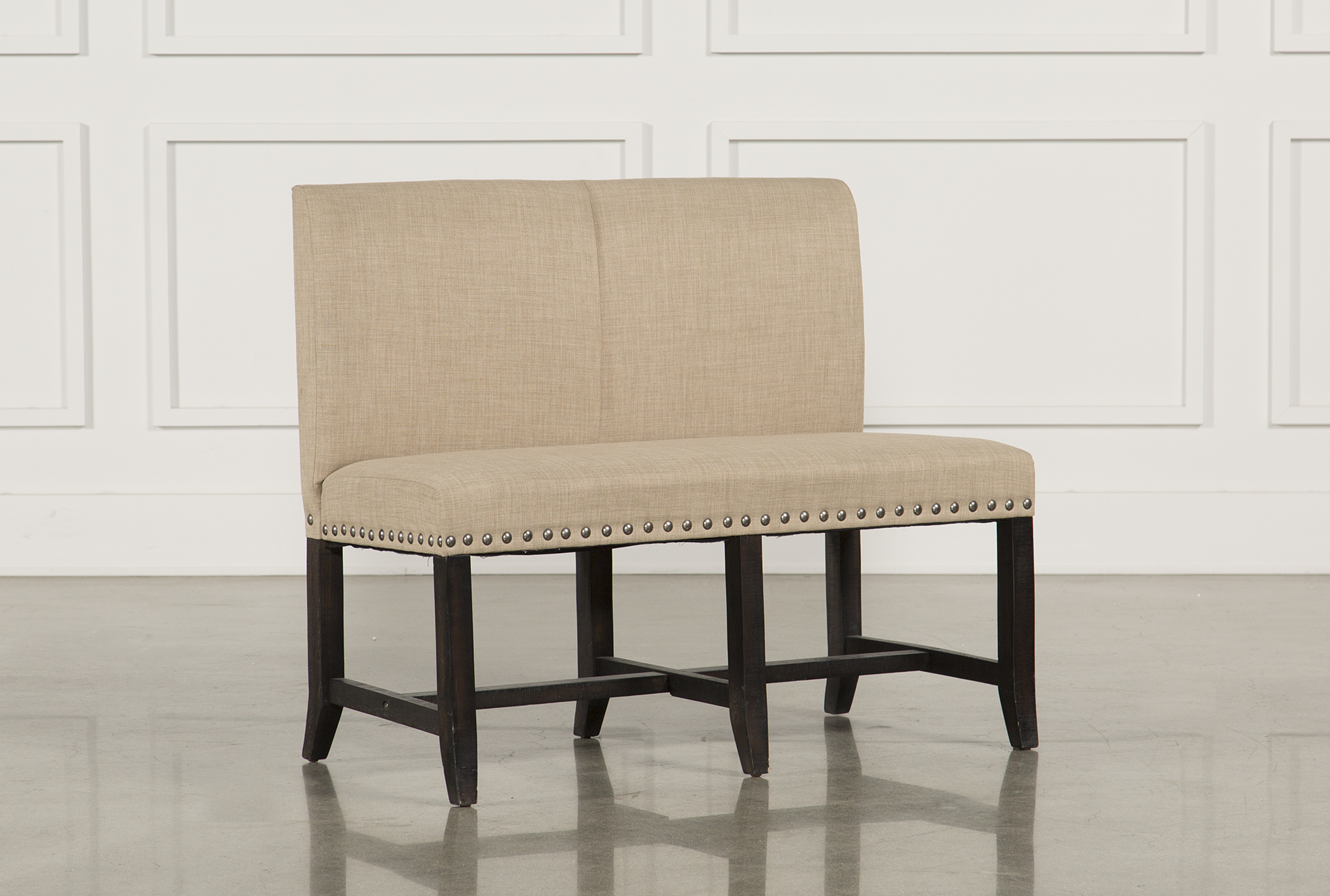Picture of: Jaxon Upholstered High Back Bench Living Spaces