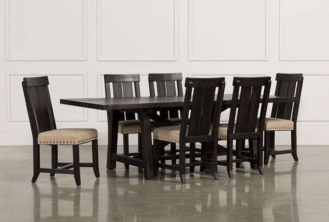 Jaxon 7 Piece Rectangle Dining Set With Wood Chairs - 360