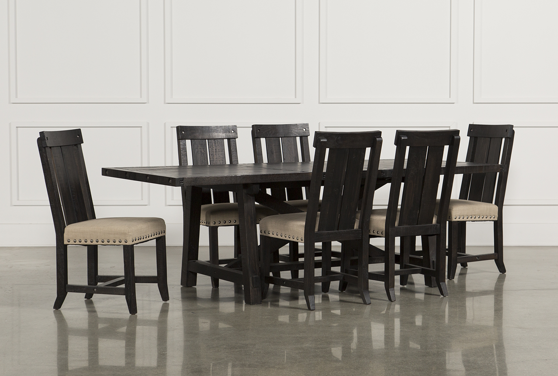 Jaxon 7 Piece Rectangle Dining Set W/Wood Chairs (Qty: 1) Has Been  Successfully Added To Your Cart.