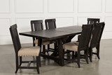Jaxon 7 Piece Rectangle Dining Set W/Wood Chairs - Top