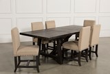 Jaxon 7 Piece Rectangle Dining Set W/Upholstered Chairs - Top