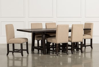 Jaxon 7 Piece Rectangle Dining Set With Upholstered Chairs