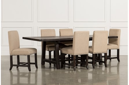 Jaxon 7 Piece Rectangle Dining Set W/Upholstered Chairs - Main