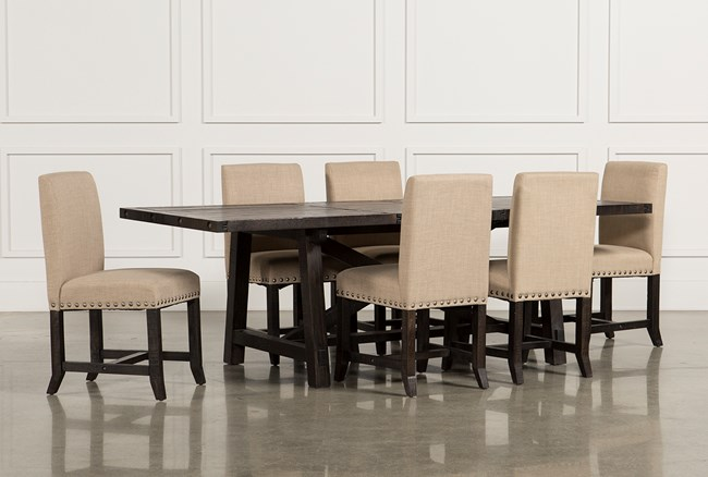 Jaxon 7 Piece Rectangle Dining Set W/Upholstered Chairs - 360