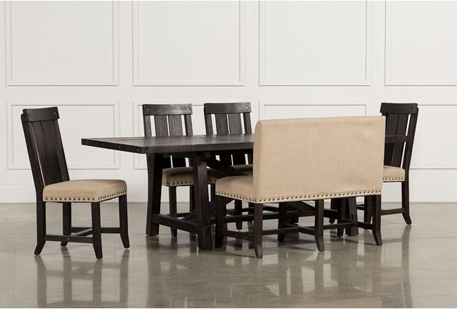 Jaxon 6 Piece Rectangle Dining Set W/Bench & Wood Chairs - 360