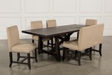 Jaxon 6 Piece Rectangle Dining Set W/Bench & Uph Chairs - Back