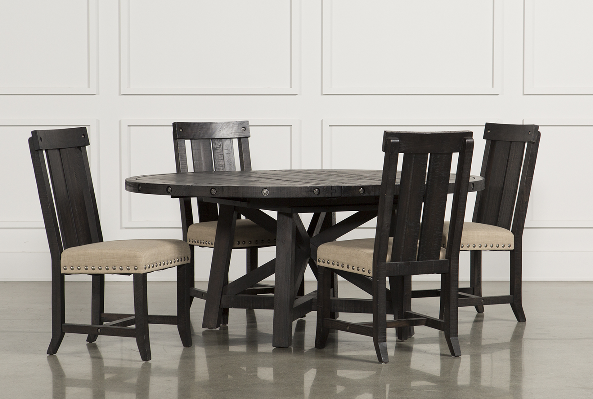 Good Jaxon 5 Piece Extension Round Dining Set W/Wood Chairs (Qty: 1) Has Been  Successfully Added To Your Cart.