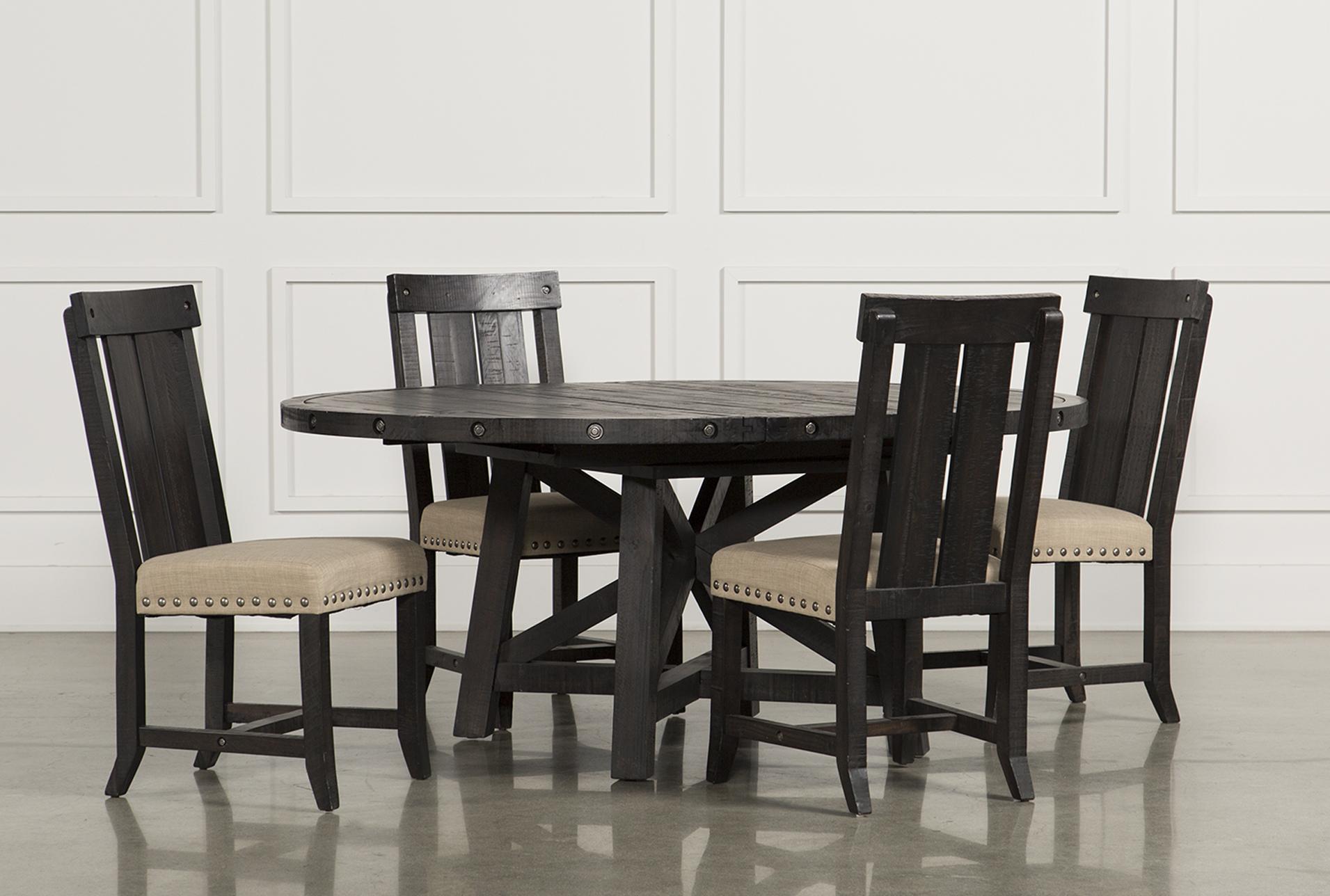 Superb Jaxon 5 Piece Extension Round Dining Set W/Wood Chairs   360
