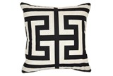 Accent Pillow-Estate Black 22X22 - Signature