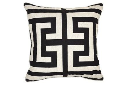 Accent Pillow-Estate Black 22X22 - Main