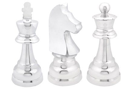3 Piece Set Aluminum Chess - Main