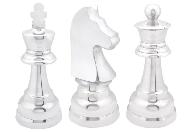 3 Piece Set Aluminum Chess
