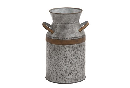 Metal Galvanized Milk Can Large