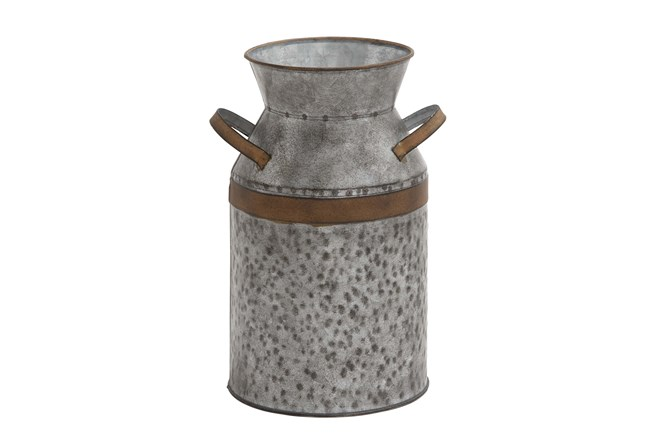 Metal Galvanized Milk Can Large - 360
