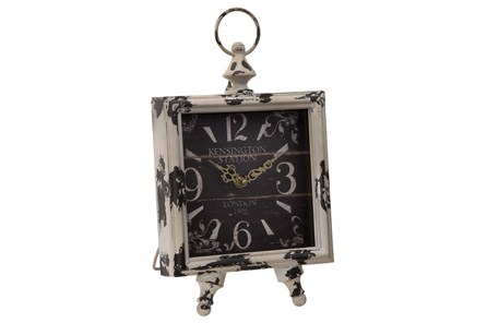 14 Inch Square Metal Clock - Main