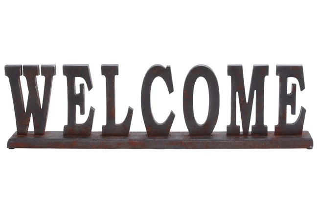Wood Table Top Welcome - 360