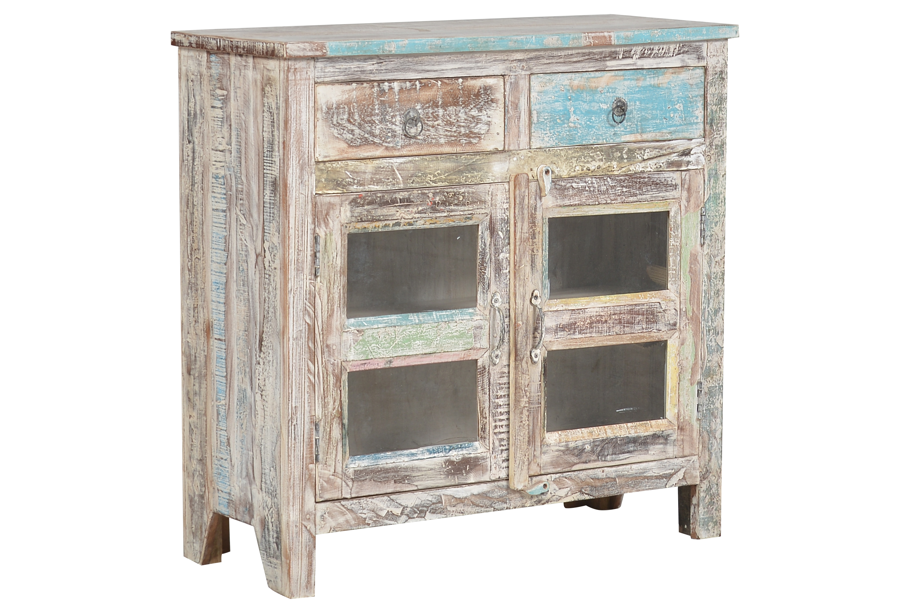 Issa 2 Drawer Glass Cabinet   360 Elements