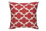 Accent Pillow-Red Geo 22X22 - Signature