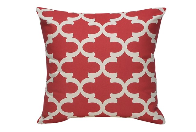 Accent Pillow-Red Geo 22X22 - 360