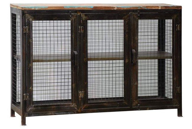 Reclaimed Industrial Finish Display Cabinet - 360