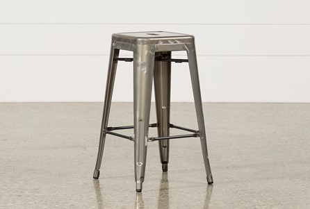 Cooper 26 Inch Metal Backless Stool