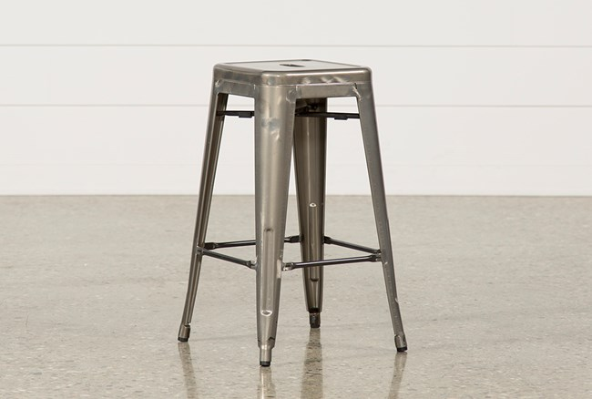 Cooper 26 Inch Metal Backless Stool - 360