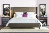 Gage California King Upholstered Panel Bed - Room